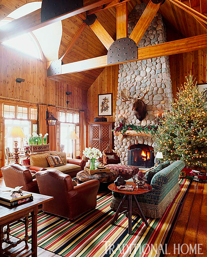 19 Log Cabin Home Décor Ideas: Rustic Christmas Décor