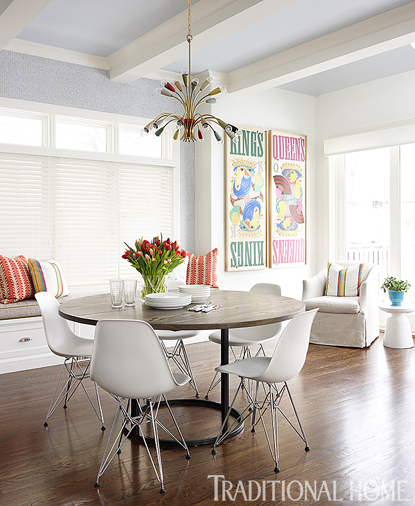 Bold Use of Color in a Chicago Home | Traditional Home