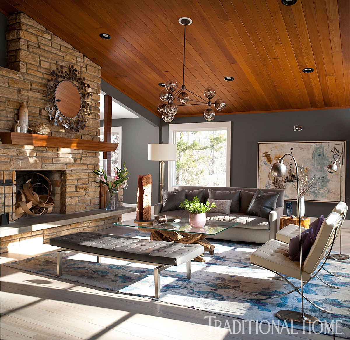 renovated ranch house in north carolina traditional home