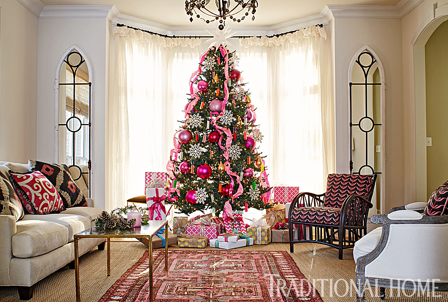 pretty christmas trees traditional home