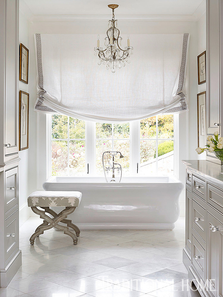 Georgia home with casual elegance traditional home for Master bath windows