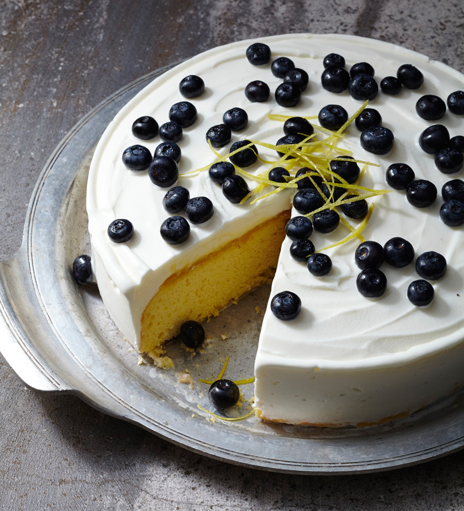 Blueberry Lemon Curd Ice Cream Cake Traditional Home
