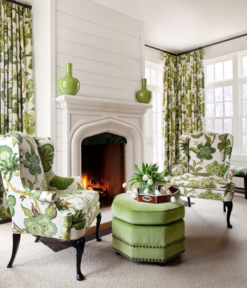 Decorating With Greenery Traditional Home