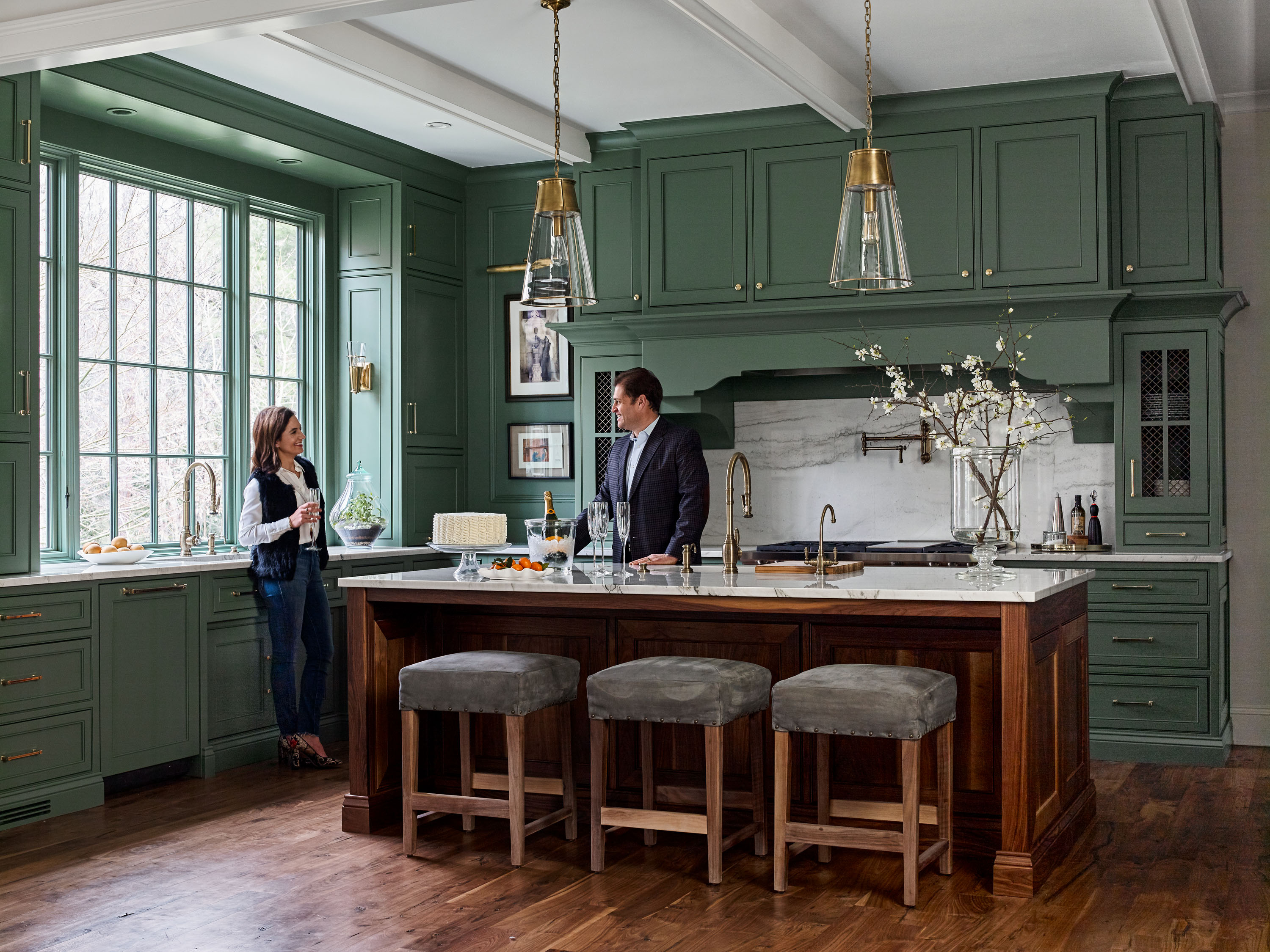 Dramatic Color in the Kitchen | Traditional Home