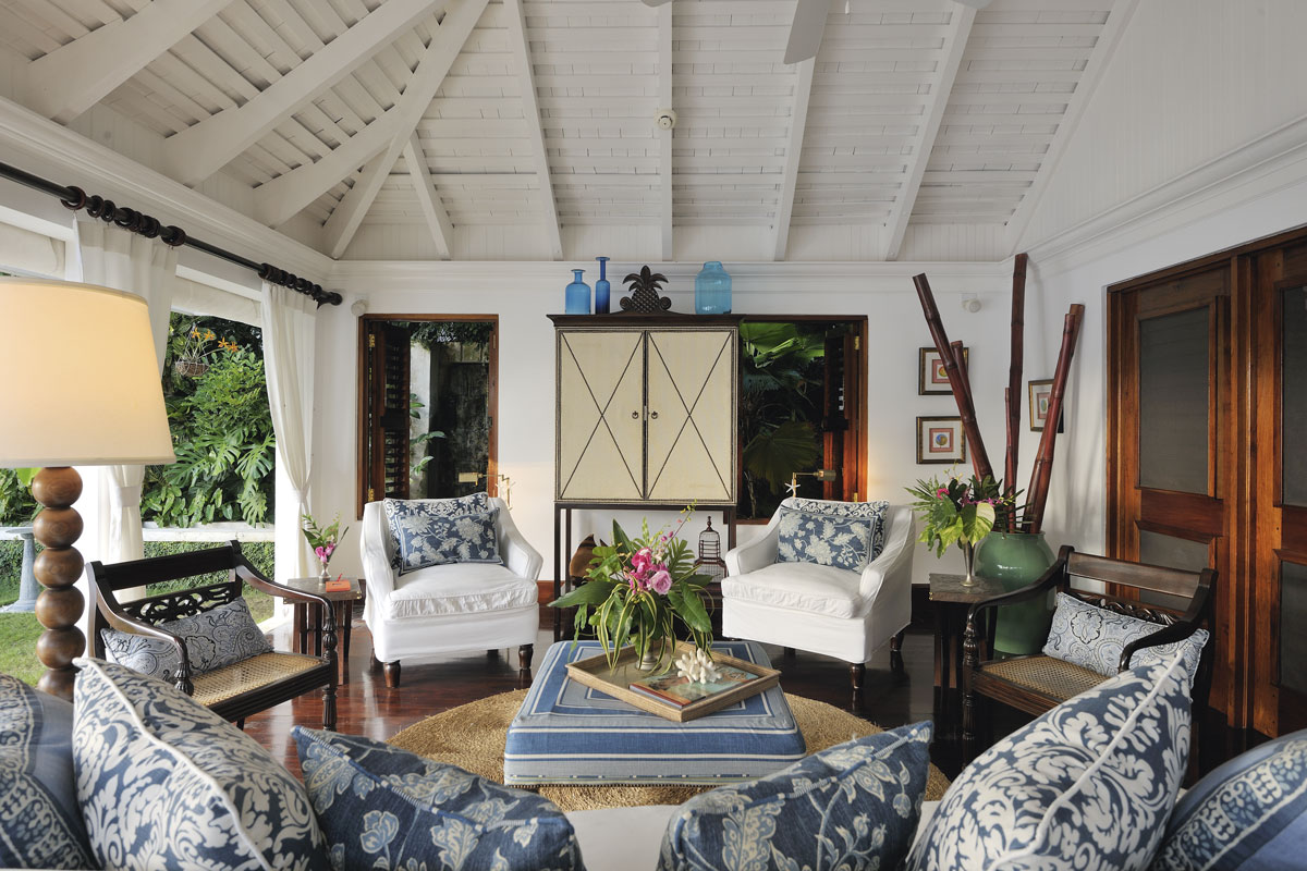 The caribbean ralph lauren style traditional home for Living room designs in jamaica
