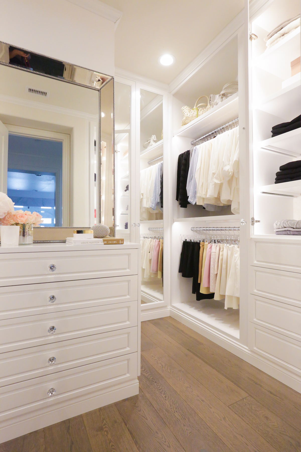 Merveilleux ... An Organized Master Closet For Her Clientu0027s Everyday Clothing. Drawers,  Shelves, And Racks Work In Conjunction With A Mirror Topped Bureau.