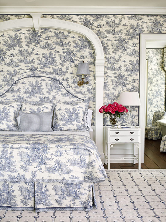 Pattern Filled Bedrooms