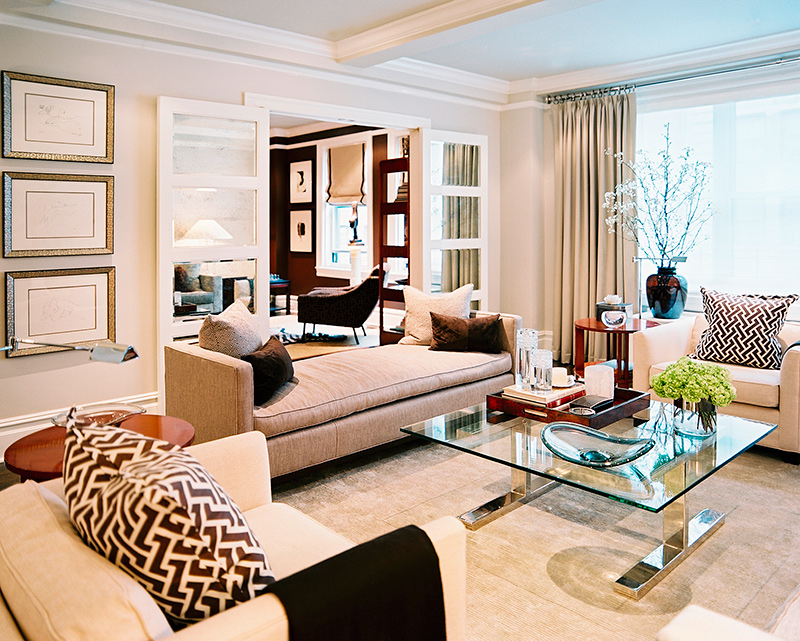 The View From The Living Room Into The Dining Room Highlights The Contrast  Between The Spacesu0027 Color Palettes. A Settee From Williams Sonoma Home  Helps ...
