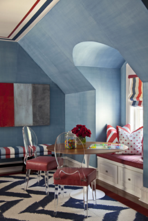 A teen\u0027s space can be a fun place to experiment with design so push your boundaries a bit. I put a cool \u201cdenim\u201d finish on the paint in the room ... & Designing Bedrooms for Teenagers | Traditional Home