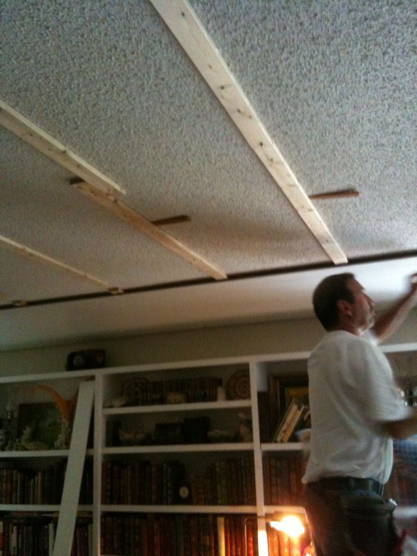 My Magical Ceiling And Floor Makeover Traditional Home - Can you put beadboard over popcorn ceiling