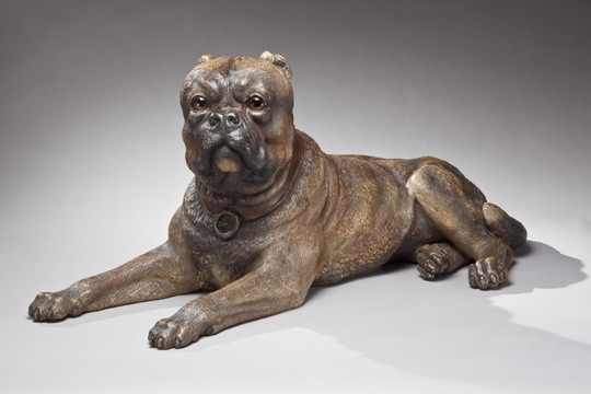 A powerful terra-cotta Mastiff, circa 1850, from Clinton Howell, the fair's organizer and president of the League.