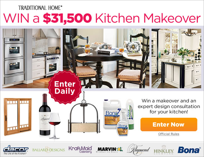 Amazing ... Win Kitchen Makeover By 2012 Kitchen Makeover Sweepstakes Traditional  Home ...