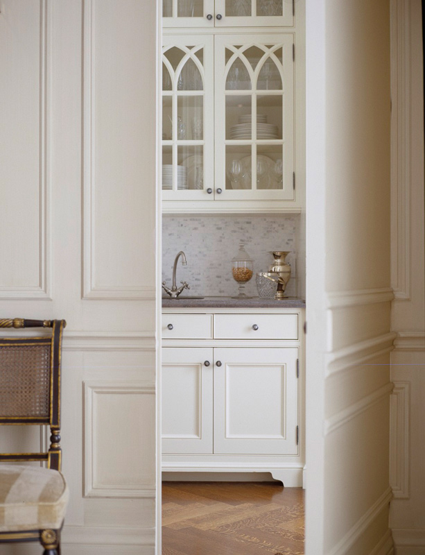Staging Kitchen Cabinet Without Doors