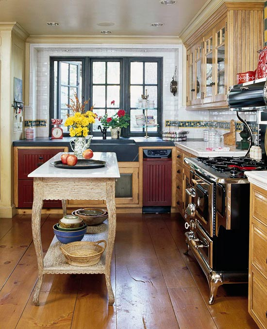Stylish islands for traditional kitchens traditional home transforming an antique parlor table into a functional island suits a kitchen with a vintage personality small but hardworking this simple island is workwithnaturefo