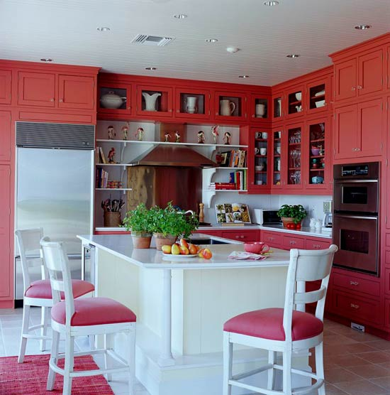Colorful Kitchens With Charisma Traditional Home - Colored-kitchens
