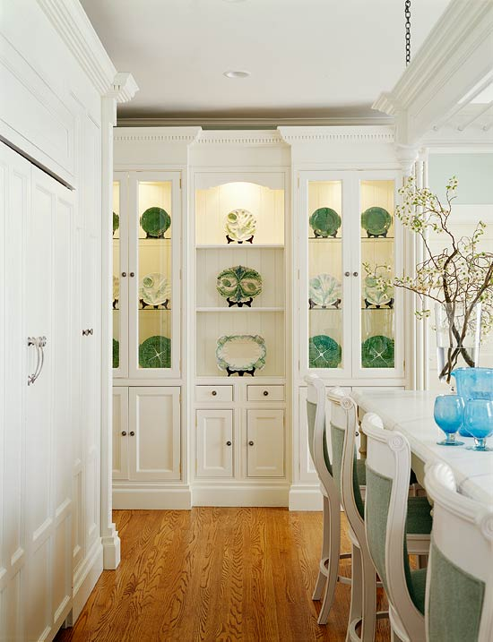 Kitchen Cabinets with FurnitureStyle FlairTraditional Home