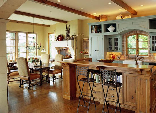 Kitchen Cabinets With Furniture-Style Flair