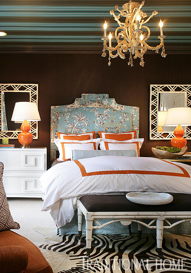 enlarge - Brown And Orange Bedroom Ideas