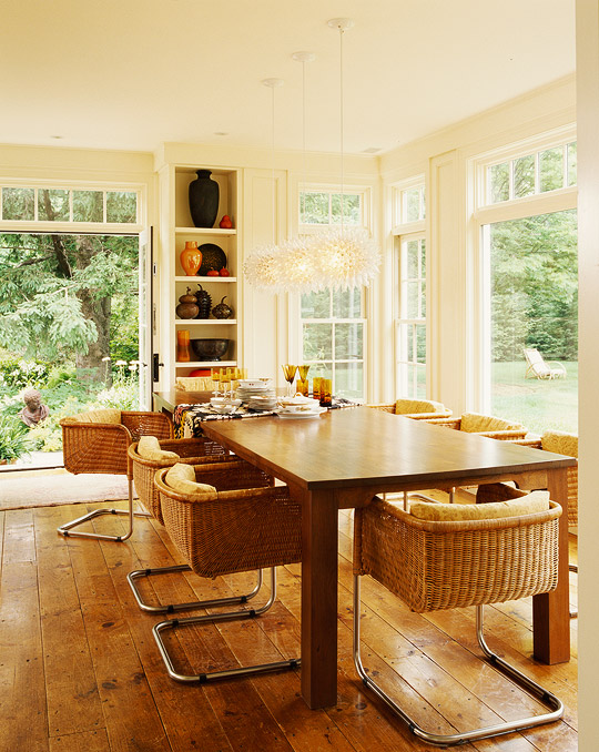 Delightful + ENLARGE. Eclectic Dining Room