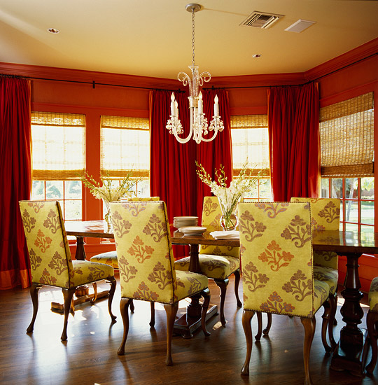 Window treatment for dining room