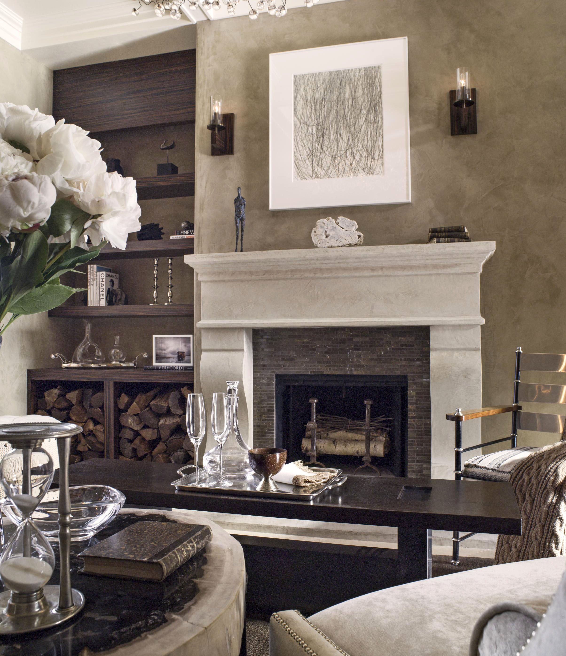 get the look contemporary mantels traditional home