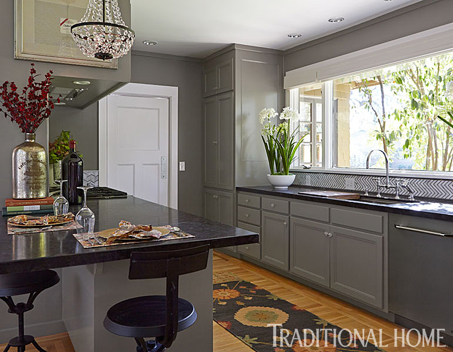 Gorgeous Gray Napa Valley Kitchen Traditional Home - Traditional grey kitchen cabinets