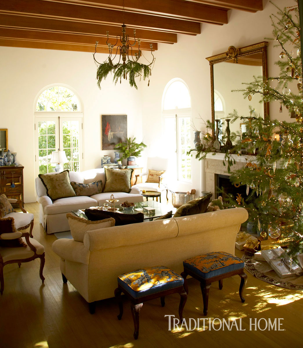 Christmas In A Spanish Mission-Style Home