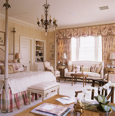 french inspired master bedroom