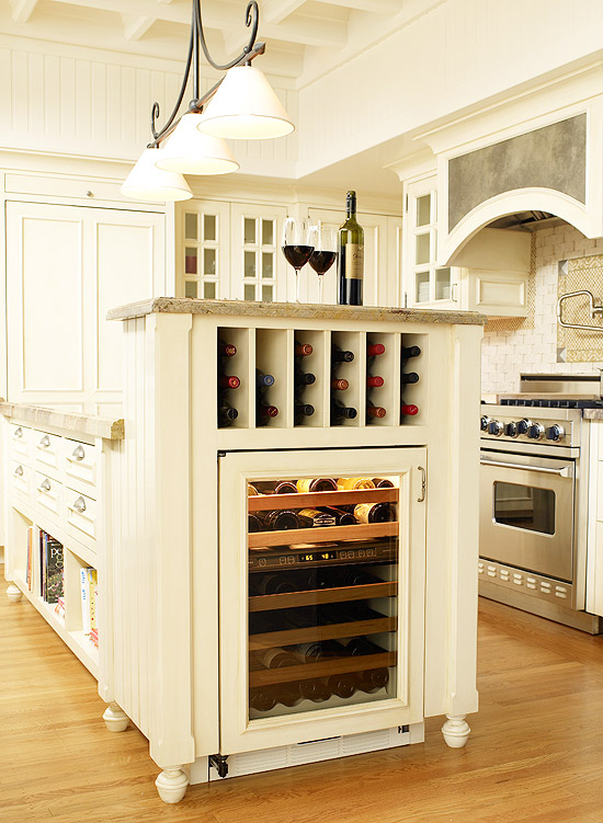Savvy Kitchen Island Storage | Traditional Home