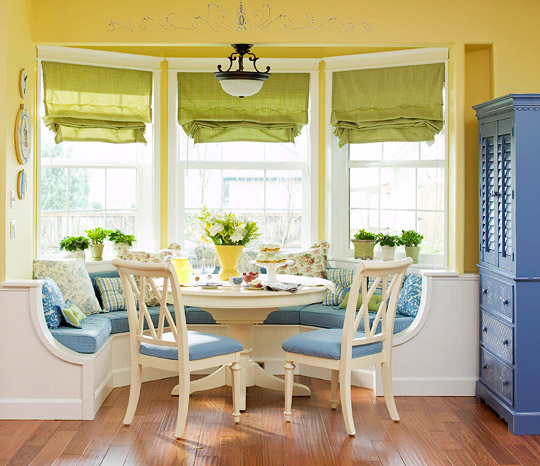 Kitchen With Bay Window Layout: Smart, Beautiful Kitchen Banquettes