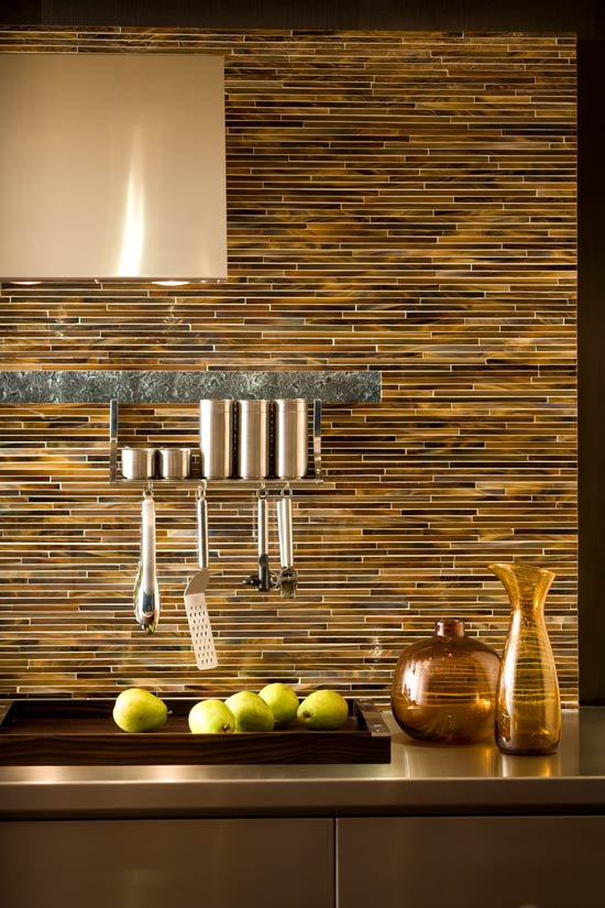 + ENLARGE. Pencil Tile Backsplash