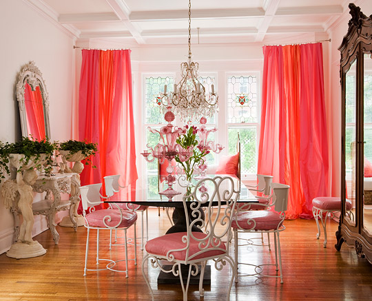 Pretty In Pink Dining Room