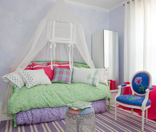 + ENLARGE. Eclectic Girlu0027s Bedroom