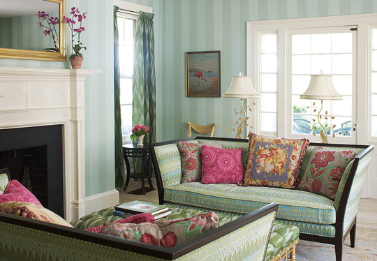 traditional home living rooms. Living Room in Green Colorful Rooms  Traditional Home