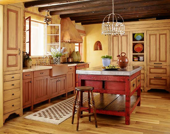 Kitchen cabinets with furniture style flair traditional home for Kitchen cabinets that look like furniture