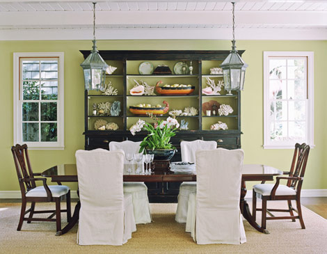green dining rooms. Decorating Rooms With Green Palettes Traditional Home Dining