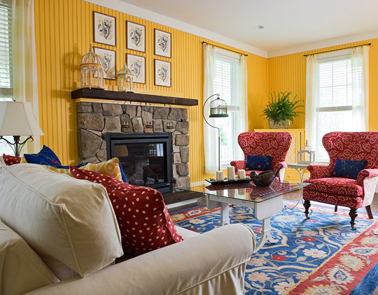Colorful Living Room colorful living rooms | traditional home