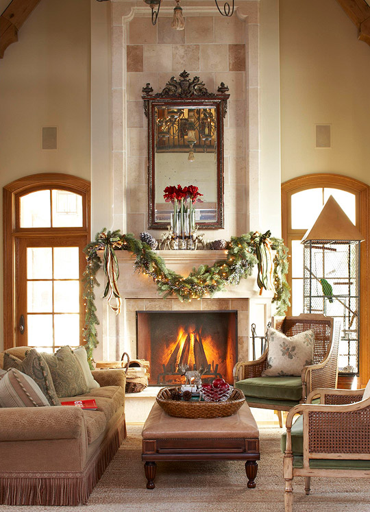 comfortable and inviting home for the holidays | traditional home