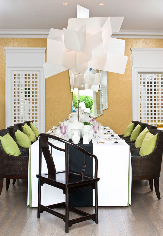 ENLARGE Creative Chandelier In This Showhouse Dining Room Designer Orlando