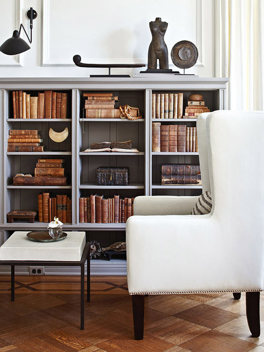 Stylish Ideas For Arranging And Organizing Bookcases Traditional - Old book case