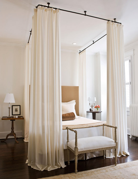 + ENLARGE. Billowing Bed Curtains & Dramatic Bed Canopies and Draperies | Traditional Home