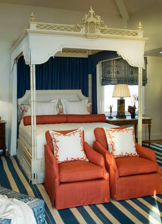 Dramatic bed canopies and draperies traditional home for Dramatic beds