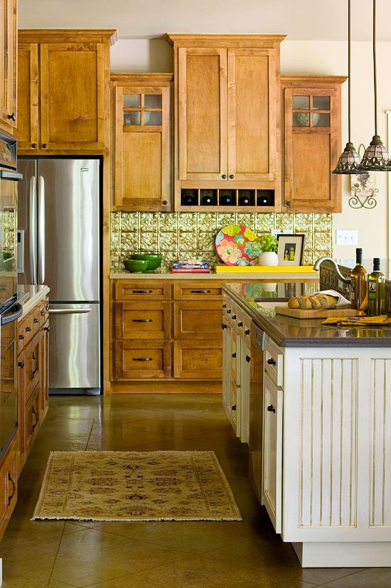 kitchen colors with brown cabinets.  ENLARGE Elegant Kitchens With Warm Wood Cabinets Traditional Home