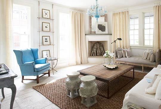 Beachfront showhouse with a beautiful calm palette traditional home for Beach home interior design ideas