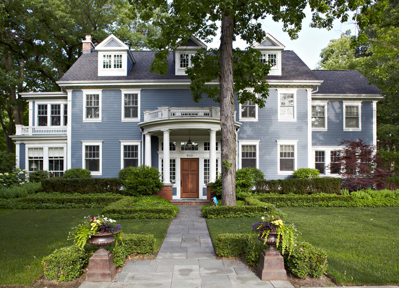 Classic home filled with art vibrant color traditional for Georgian home landscape design