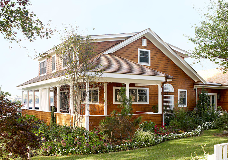 Get the look shingle style traditional home for Shingle style cottage