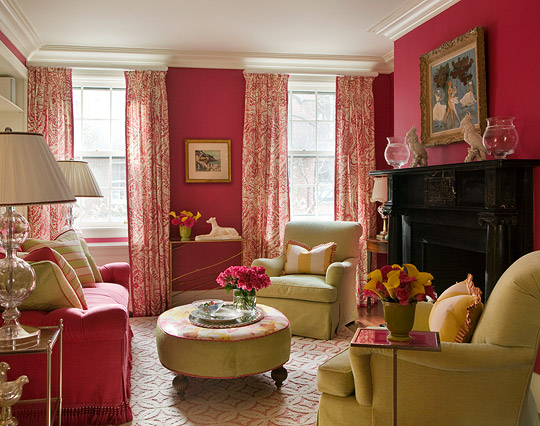 enlarge hot pink living room - Colorful Living Room