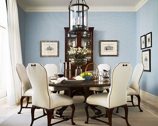 Awesome Sophisticated Cream And Blue Dining Room Part 14