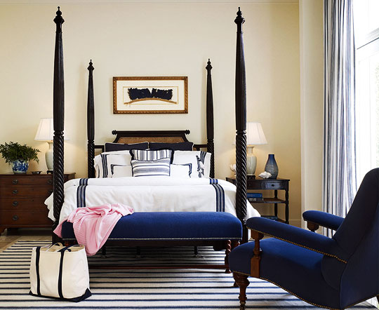 Beautiful blue bedrooms traditional home for Blue and cream bedroom decorating ideas