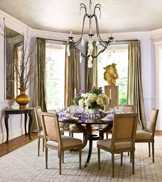 Showhouse color pastels traditional home for Pastel dining room ideas